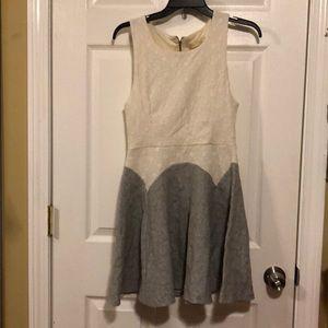 Everleigh Colorblock Polka Dot Skater Dress